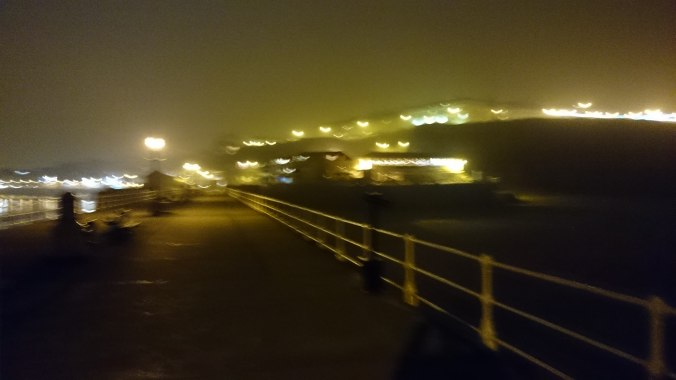 Whitby Pier At Night