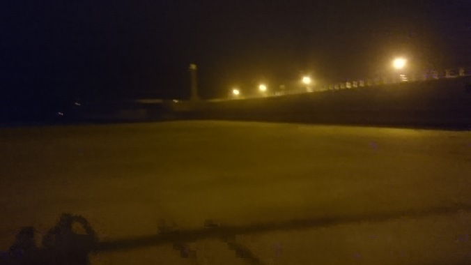 Whitby Beach By Night