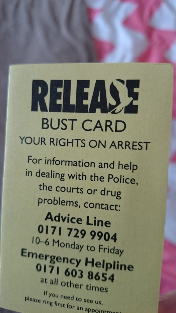 Release Bust Card