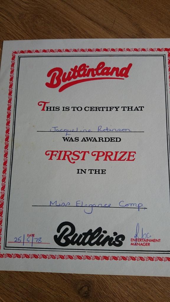 Butlins Miss Elegance 1978