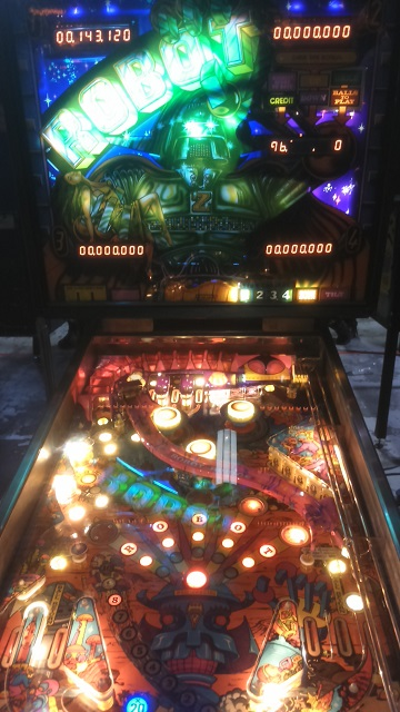 Robot Pinball Table Play Expo Manchester 2016